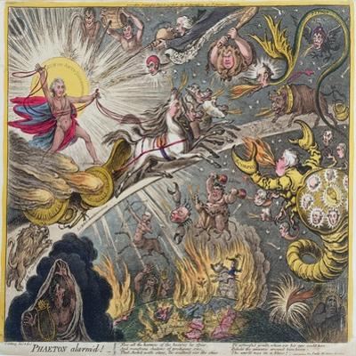 Phaeton Alarm'D, Published by Hannah Humphrey in 1808 by James Gillray