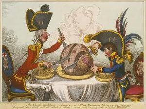 Pitt and Napoleon by James Gillray