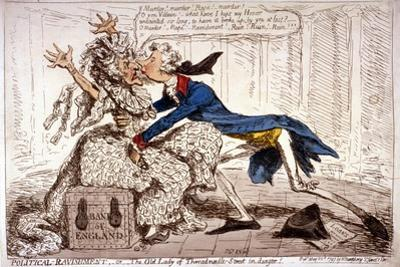 Political Ravishment, or the Old Lady of Threadneedle Street in Danger!, 1797 by James Gillray