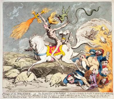 Presages of the Millennium, Published by Hannah Humphrey in 1795 by James Gillray