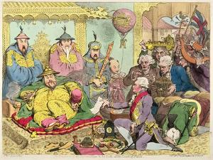 Reception of the Diplomatique and His Suite at the Court of Pekin, c.1793 by James Gillray