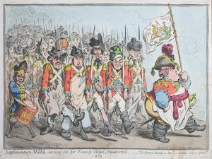 Supplementary Militia Turning Out for Twenty Days Amusement by James Gillray