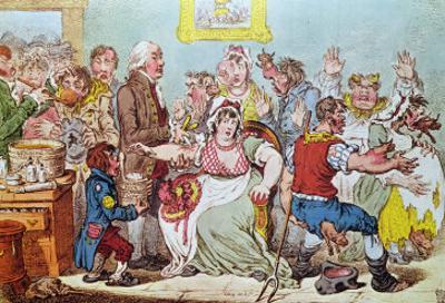 The Cow Pock or the Wonderful Effects of the New Inoculation, Published by H.Humphrey, 1809 by James Gillray