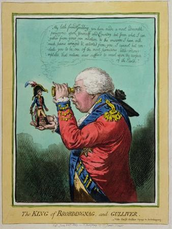 The King of Brobdingnag and Gulliver, Published by Hannah Humphrey in 1803 by James Gillray