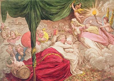 The Lover's Dream, 24th January 1795 by James Gillray
