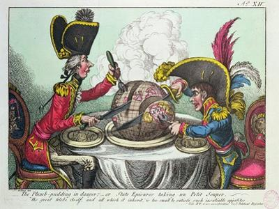 The Plum Pudding in Danger, 1805 by James Gillray