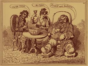 'The ravages of strong drink' - caricature by James Gillray