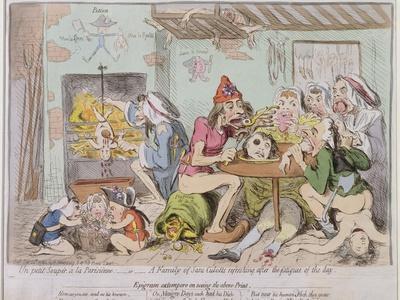 Un Petit Souper a La Parisienne, or a Family of Sans-Culottes Refreshing after the Fatigues of…