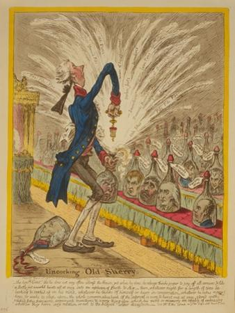 Uncorking Old Sherry, 1805 by James Gillray