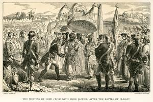 The Meeting of Lord Clive with Meer Jaffier, after the Battle of Plassey by James Godwin