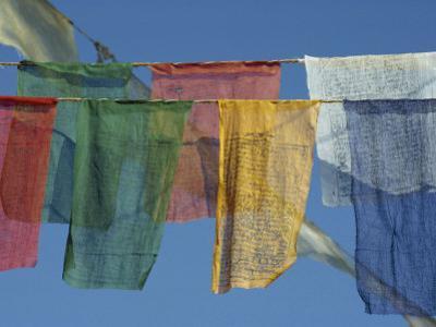 Close-Up of Prayer Flags at Swayambunath, Kathmandu, Nepal