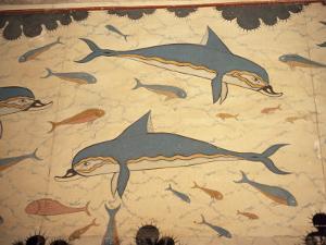 Dolphin Fresco, Knossos, Crete, Greece by James Green