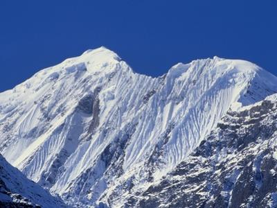 Mt Gangapurna, Annapurna Mountain Range, Nepal