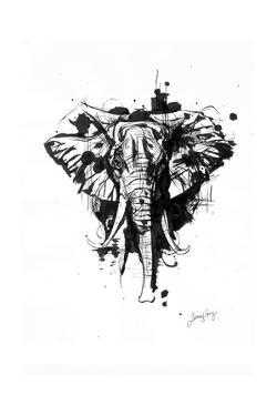 Inked Elephant by James Grey
