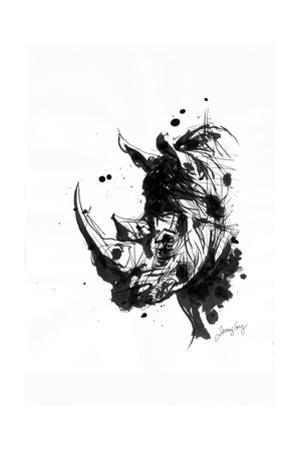 Inked Rhino by James Grey