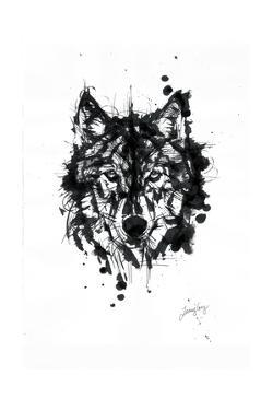 Inked Wolf by James Grey