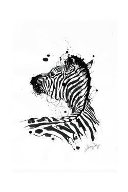 Inked Zebra by James Grey