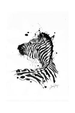 Inked Zebra by James Grey