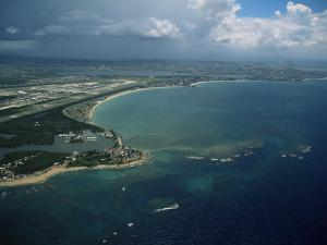Aerial of the Island of Puerto Rico, West Indies, Central America by James Gritz