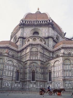 Buggy in Front of the Duomo, Florence, UNESCO World Heritage Site, Tuscany, Italy, Europe by James Gritz