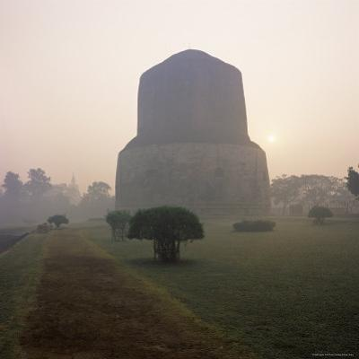 Dhamekh Stupa, Buddhist Pilgrimage Site, Sarnath, Near Varanasi, Uttar Pradesh State, India, Asia by James Gritz