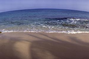Panoramic Fisheye View of an Ocean and Beach by James Gritz