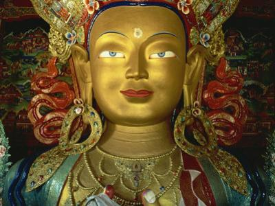 Statue of Maitreya, Tikse Gompa, Ladakh, India by James Gritz