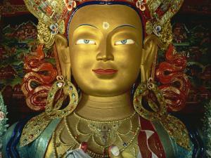 Statue of Maitreya, Tikse Gompa, Ladakh, India by James Gritz