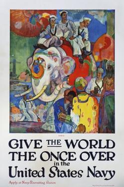 Give the World the Once over in the United States Navy Poster by James H. Daugherty