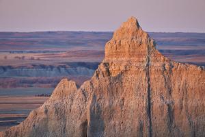 Badlands at Dawn, Badlands National Park, South Dakota, United States of America, North America by James Hager
