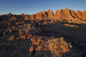 Badlands at First Light, Badlands National Park, South Dakota by James Hager