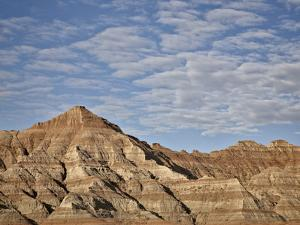 Badlands with Clouds, Badlands National Park, South Dakota, United States of America, North America by James Hager