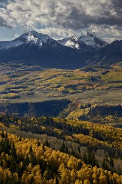 Lizard Head and Yellow Aspens in the Fall by James Hager