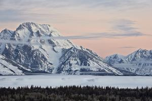 Mount Moran at Dawn in the Winter by James Hager