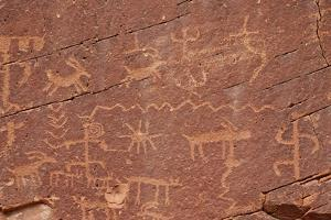 Petroglyphs, Gold Butte, Nevada, United States of America, North America by James Hager