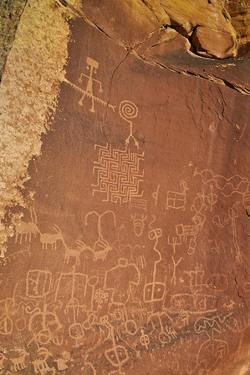 Petroglyphs, Vermilion Cliffs National Monument, Arizona, United States of America, North America by James Hager