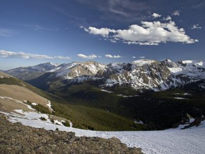 Snow-Covered Mountains in the Spring from Trail Ridge Road, Rocky Mountain National Park, Colorado by James Hager