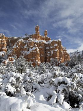 Snow-Covered Red Rock Formations, Dixie National Forest, Utah by James Hager