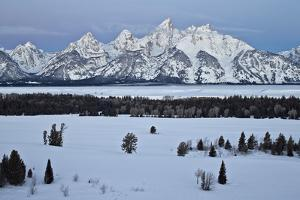 Teton Range at Dawn in the Winter by James Hager
