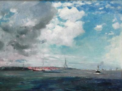 New Brighton from the Mersey, 1907 (Oil on Panel)