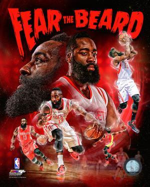 James Harden Fear the Beard Portrait Plus