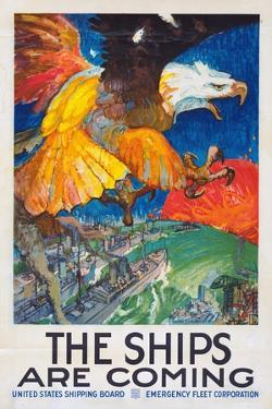 """""""The Ships Are Coming!"""", 1918 by James Henry Daugherty"""