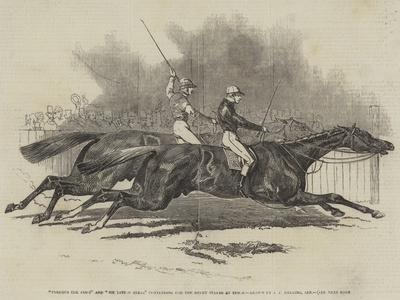 Pyrrhus the First and Sir Tatton Sykes Contending for the Derby Stakes at Epsom
