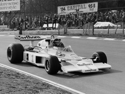 James Hunt in Mclaren-Ford M23, Brands Hatch, Kent, 1977