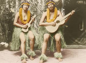 Hawaiian Hula Girls - Honolulu Hawaii by James J. Williams