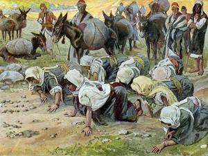 Abigail kneels before David, by Tissot -Bible by James Jacques Joseph Tissot