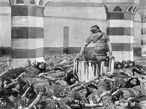 Abimelech slays his seventy brethren - Bible by James Jacques Joseph Tissot