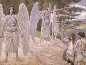 Adam and Eve Driven from Paradise, 1896-1902 by James Jacques Joseph Tissot