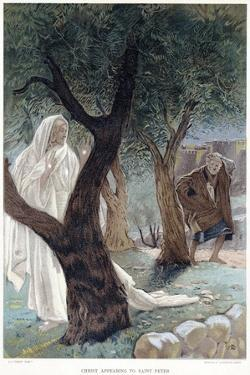 Christ Appearing to St Peter, C1890 by James Jacques Joseph Tissot