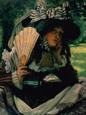 Girl with a Fan, 1870-1871 by James Jacques Joseph Tissot